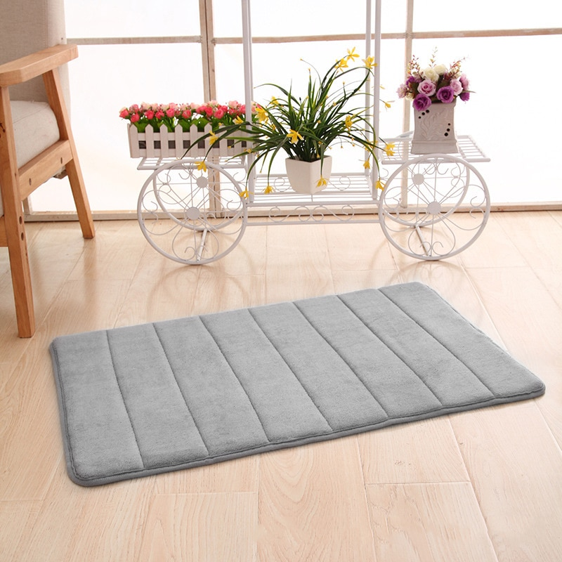 Memory Foam Non Slip Bathroom Bath Mat Bedroom Shower Floor Rug Carpet Pad 40*60