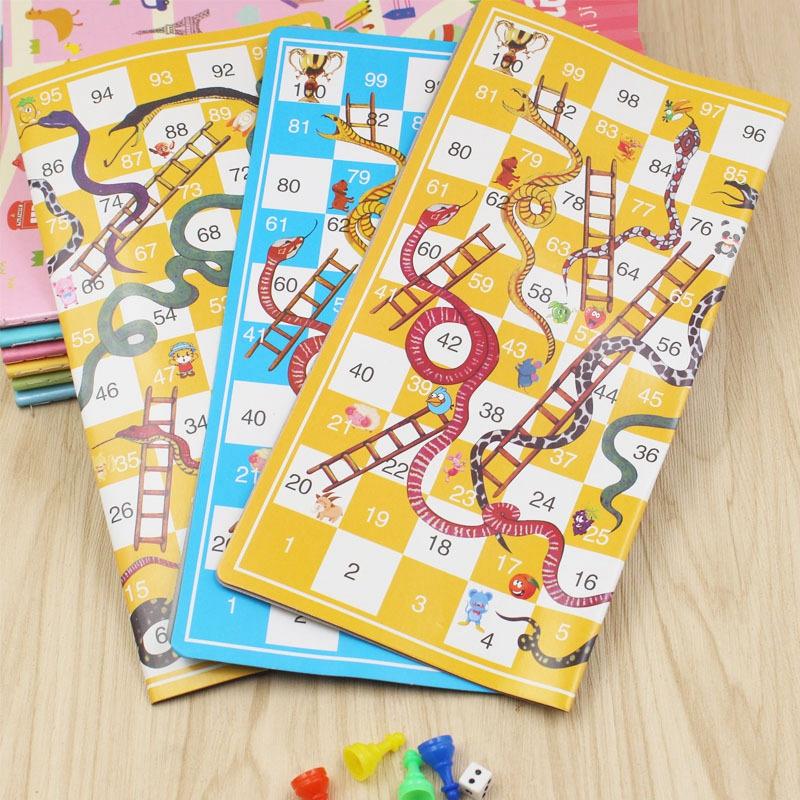 Snake Ladder Educational Kids Children Toys Family Interesting Board Game gifO-N