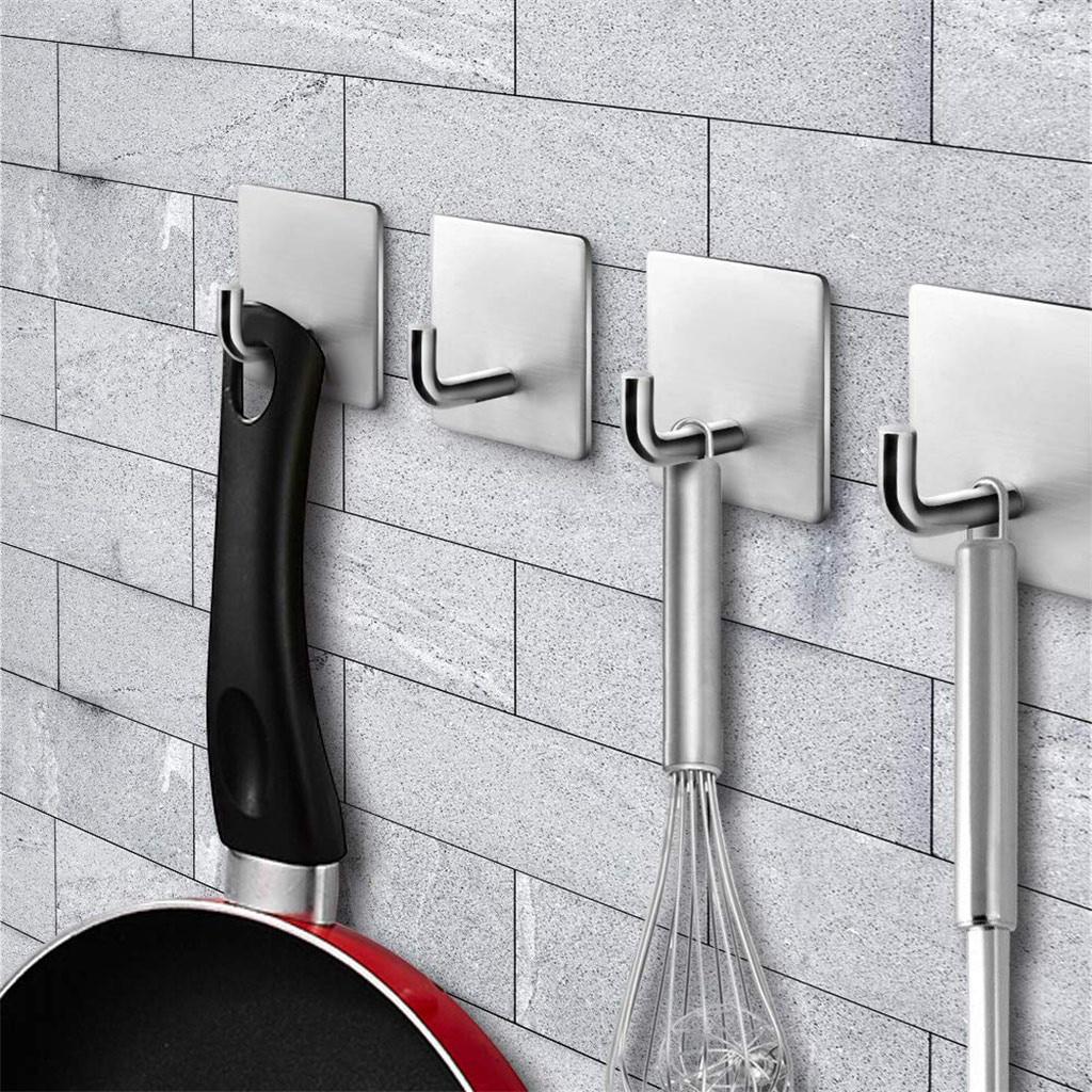 Clothes Towel Hat Hook Kitchen Bathroom Wall Wardrobe Stainless steel Hanger